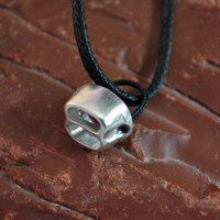 Climbing Tube Belaying Device Sterling Silver Jewelry