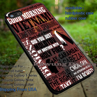 Supernatural Lucifer Quote Collage Red Galaxy iPhone 6s 6 6s+ 5c 5s Cases Samsung Galaxy s5 s6 Edge+ NOTE 5 4 3 #quote dt