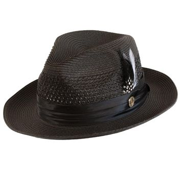Dominic Center Dent Straw Fedora