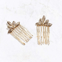 Ornate Foliage Hair Comb Set - Urban Outfitters
