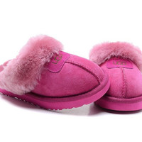 """UGG"" Fashion Women Casual Wool Slipper Shoes Roses"