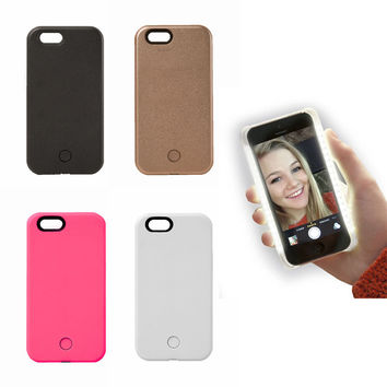 Selfie Light-Up Glam Case for iPhone 5 6 6s 6 plus/ Or Samsung s6