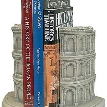 Roman Coliseum Famous Places Bookends 6.5H