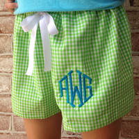 Women's Gingham Drawstring Shorts
