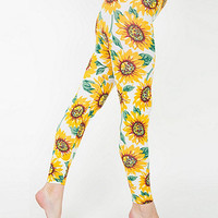 Floral Print Cotton SpandexJersey Legging