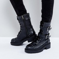 ASOS ACIDIC Military Ankle Boots at asos.com