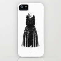 The Wolf King iPhone & iPod Case by DB Art