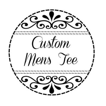 NattieDuds Clothing - Custom Clothing - Customizable Single Color T-Shirt - Crew Neck - Mens