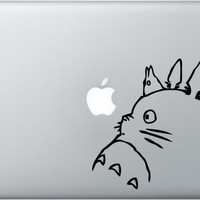 Totoro decal for Apple Macbook Pro Air iPad 13 by allBLACKandWHITE