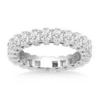 14K White Gold Princess Cut Diamond Eternity Ring P150-69046-4.5