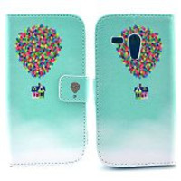 Colorful Balloons Carrying the Cute House of the Movie Up Pattern Card Slot Magnetic Flip Stand TPU+ PU Leather Case for Motorola XT1032 XT1031 Moto G