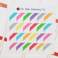26 Corner Flag Stickers - Perfect For Planners & Scrapbooking