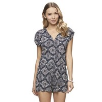 Juniors' Mason & Belle Geometric Split Back Romper