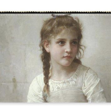 Sewing By Adolphe-william Bouguereau - Carry-All Pouch