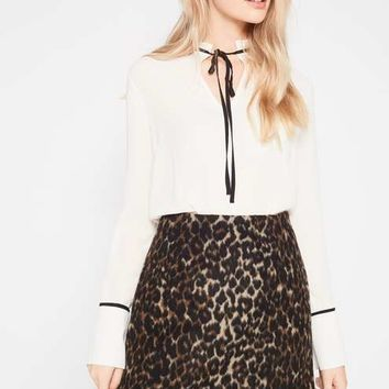 Brushed Animal Print Skirt