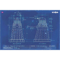 Doctor Who - Daleks Blueprint 24x36 Standard Wall Art Poster