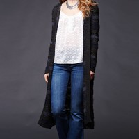House of Harlow Cozy Duster Cardigan - Womens Sweater - Black - One