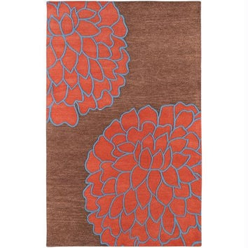 Area Rug - 1.5 'x 1.5' - Colors Include Sepia Brown