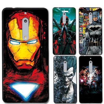 Deadpool Dead pool Taco Charming Painted Cases Cover For Nokia 5 5.2 inch Marvel Avengers Captain America  Coque For Nokia 5 Nokia5 Phone case AT_70_6