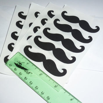 Free Shipping 20 3 inch mustache Sticker by itrhymeswithorange