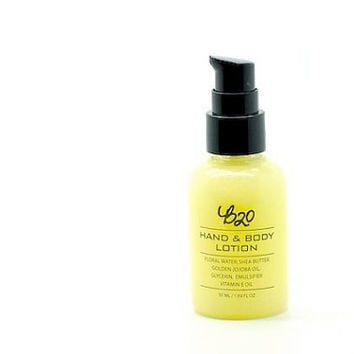 B20 Hand and Body Lotion. Lemon. Shea Butter. Natural Scented. No Fragrance or Essential Oil.