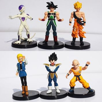 Dragon Ball Z  Figures Action Figure Collectable Model Toy 6Pcs/set