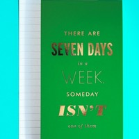 Kate Spade New York Large Notepad-Seven Days A Week