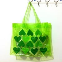 Beach bags Transparent PVC Jelly Tote Organizer