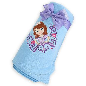 Licensed cool Disney Store Exclusive Sofia the First Princess BLUE Fleece Throw Blanket 60x50