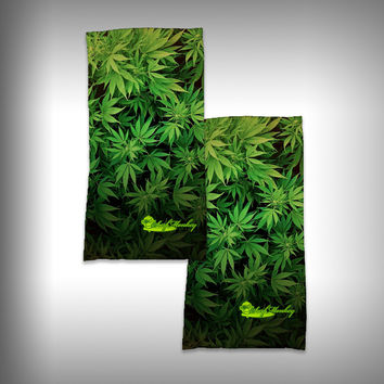 Monk Wrap Neck Gaiter / Face Shield - Cannibis