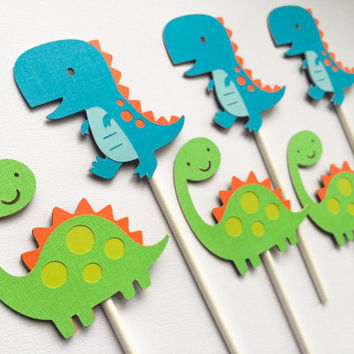 Dinosaur Cupcake Toppers, Dinosaur Birthday, Dinosaur Decorations