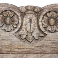 Vintage Architectural Salvage Distressed Wood Trim Carved