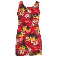 sunburst hawaiian tank dress