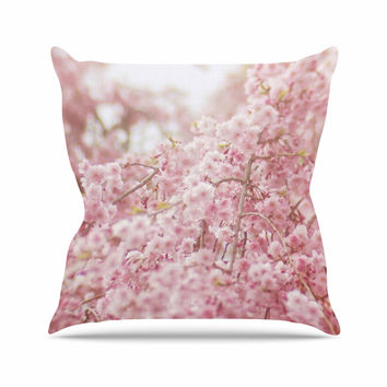 "Debbra Obertanec ""Spring Pinks"" Floral Digital Throw Pillow"