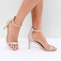 Truffle Collection Mid Barely There Heeled Sandals at asos.com