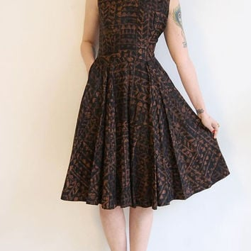1950s Dress // vintage 50s TOBIE dress // Light Touch