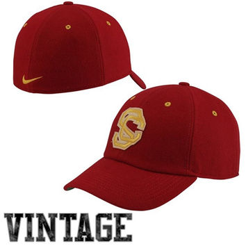 Nike USC Trojans Vault Heritage 86 Fitted Hat - Cardinal
