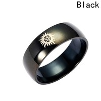 Solar supernatural power supernatural ring titanium ring - Sun Force Evil Supernatural Ring Titanium Steel Ring Supernatural