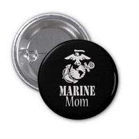 RED Marine Mom Button