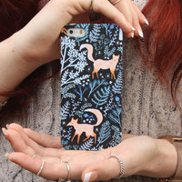 Foxes Playing in the Forest iPhone Case in iPhone 5 and 5S and iPhone 4 and 4S