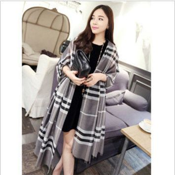 ESBU3C 20164 color hot fashion luxury brands plaid cashmere shawl scarf cloak winter charm women's fashion accessories Holiday gifts