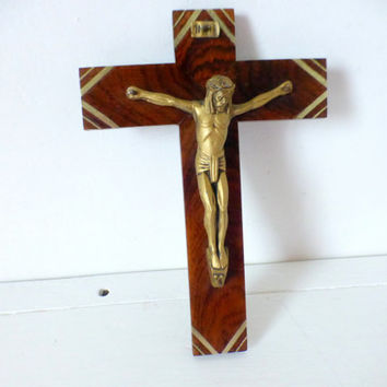 Vintage French Wall Crucifix