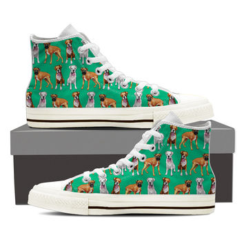 Boxer Dog Pattern Shoes
