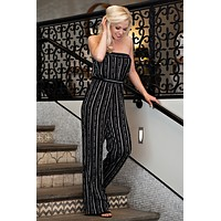 Tall Glass Of Water Belted Jumpsuit : Black