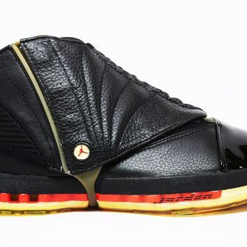 KUYOU Air Jordan 16 3/4 Hi Men Black Varsity Red