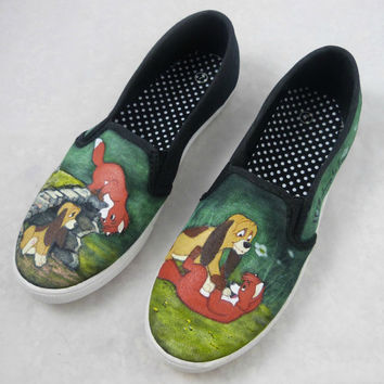Custom Hand Painted Shoes - Disney The Fox and the Hound