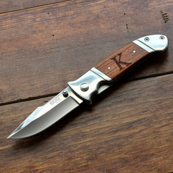Groomsmen Knife: SOG Fielder - Personalized Groomsmen Gift, Pocket Knives, Best Man, Him, Dad, Father's Day, Birthday