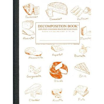 Fromage Collage Decomposition Book: College-ruled Composition Notebook With 100% Post-consumer-waste Recycled Pages