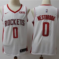 2019-2020 Houston Rockets 0 white Russell Westbrook Swingman Jersey