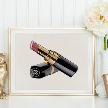 SPECIAL EDITION Coco Chanel Lipstick Makeup Print,Makeup Bathroom Decor,Gift For Wife,Chanel Lipstick,Gift For Birthday,Gift For Girlfriend